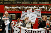 National Shop Stewards Network demonstrate outside the Bank of England against the bank bail out. - Philip Wolmuth - 2000s,2008,activist,activists,against,anti,bail-out,bank,banking,banks,CAMPAIGN,campaigner,campaigners,CAMPAIGNING,CAMPAIGNS,capitalism,capitalist,cities,City,Credit Crunch,DEMONSTRATING,demonstration