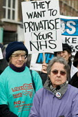 Demonstration organised by Camden Keep Our NHS Public to protest at the privatisation of local GP practices by Camden Primary Care Trust. Three practices have already been transferred to the control o... - Philip Wolmuth - 14-02-2009