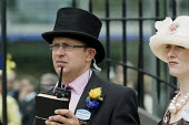 Alastair Warwick, General Manager of Ascot Racecourse, outside the Royal Enclosure on Ladies Day. - Philip Wolmuth - 18-06-2009
