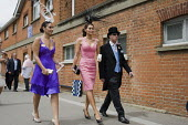 Racegoers approach the Royal Enclosure at Ascot racecourse on Ladies Day. - Philip Wolmuth - 18-06-2009