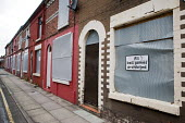 'All ball games prohibited': houses in Anfield, around Liverpool football stadium, scheduled for demolition by the Merseyside NewHeartlands partnership, financed by the Housing Market Renewal Fund, pa... - Philip Wolmuth - 19-06-2009