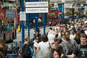 Shoppers and tourists in Regent Street, London. - Philip Wolmuth - 08-07-2009