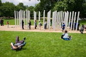 The 7/7 Monument in Hyde Park. The memorial to the 52 people killed in the London bombings of 7 July 2005 was designed by architects Kevin Carmody and Andy Groarke. - Philip Wolmuth - 08-07-2009