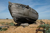 A decaying fishing boat on a shingle beach at Dungeness. - Philip Wolmuth - 23-08-2009