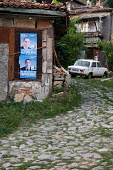 Election posters supporting Boyko Borisov and the GERB party. Bulgaria - Philip Wolmuth - 25-07-2009