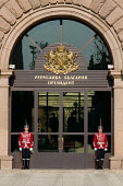 Uniformed guards outside the Presidential Offices in Sofia, Bulgaria. - Philip Wolmuth - 17-04-2009