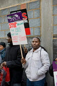 Workers at the Hackney Centre for Forensic Mental Health join a Unison protest outside East London NHS Foundation Trust against privatisation and cutsagainst privatisation and cuts - Philip Wolmuth - 26-11-2009
