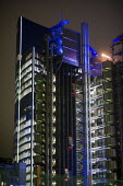 The Lloyds Building in the City of London at night. - Philip Wolmuth - 15-01-2010