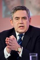 Prime Minister Gordon Brown, Labour Party election campaign press conference, London. - Philip Wolmuth - 23-04-2010