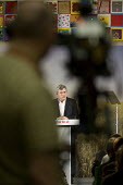 Gordon Brown, launch of Labour's Green Manifesto, Westminster Academy, Labour General Election Campaign, London - Philip Wolmuth - 25-04-2010