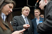 London Mayor Boris Johnson campaigns on behalf of Conservative parliamentary candidate Chris Philp in the marginal constituency of Hampstead and Kilburn. - Philip Wolmuth - 30-04-2010