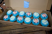 Cakes baked by a supporter of the Conservative parliamentary candidate Chris Philp in the marginal constituency of Hampstead and Kilburn. - Philip Wolmuth - 2010,2010s,Cakes,CAMPAIGN,campaigning,CAMPAIGNS,candidate,CANDIDATES,CANVASING,canvassing,Conservative,Conservative Party,conservatives,democracy,ELECTION,electioneering,elections,General Election,MP,