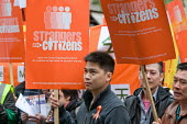 Strangers into Citizens rally in Chinatown, London, to demand an amnesty for migrant workers without papers, and an end to curbs on work permits. - Philip Wolmuth - 03-05-2010
