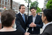 Conservative MP Nick Hurd visits projects in Church Street, London, supported by the Paddington Development Trust. - Philip Wolmuth - 20-05-2010