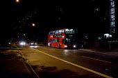 Late night bus, Cricklewood, London. - Philip Wolmuth - 2010,2010s,bus,bus service,buses,cities,city,dark,For,highway,journey,journeys,London,night-time,PASSENGER,passengers,people,public,road,roads,service,services,SOI Social Issues,TfL,transport,transpor