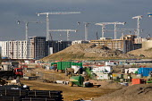 Construction work on the London 2012 Athletes Village in Stratford. The publicly owned development is being built by the Olympic Delivery Authority (ODA) and private construction company Bovis Lend Le... - Philip Wolmuth - 21-09-2010