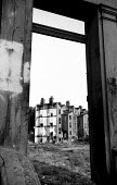 1975 Partly demolished Victorian terraced housing in Walterton Road, North Paddington, West London. - Philip Wolmuth - 02-04-1975