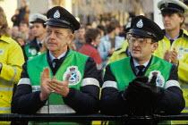 Ambulance workers rally, 1990 pay dispute, Trafalgar Square, London - Philip Wolmuth - 13-01-1990