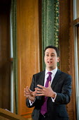 Labour Party leader Ed Miliband gives the first of his planned monthly press conferences, Westminster, London. - Philip Wolmuth - 13-12-2010