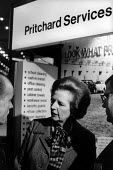 Prime Minister Margaret Thatcher talks to private contractors Prichards Services bidding for privatised local government services at a Conservative Local Government conference, London. - Philip Wolmuth - ,1980s,1985,bidding,businessman,businessmen,conference,conferences,CONSERVATIVE,Conservative Party,Conservatives,FEMALE,government,INDEPENDENT,local,male,man,men,Minister,people,person,persons,pol,POL