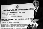 Lord David Young, Conservative Party pre election press conference policy statement. - Philip Wolmuth - 01-06-1987