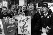 Nurses at St. Marys Hospital protest, London 1988. National Day of Action against NHS cuts - Philip Wolmuth - 03-02-1988