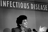 Junior Health Minister Edwina Currie speaks at the launch of a MMR vaccination campaign. - Philip Wolmuth - 1980s,1988,campaign,campaigning,CAMPAIGNS,Conservative,Conservative Party,conservatives,FEMALE,hea,health,inoculated,inoculation,inoculations,launch,London,Minister,PEOPLE,person,persons,pol,POL polit