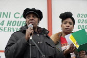 Winklet and Cherell Smith, mother and twin sister of Daniel Omari Smith, who was murdered in a drive-by shooting on the Harrow Road in May 2010. Community Rally organised by the Tell It Parents' Actio... - Philip Wolmuth - 05-03-2011