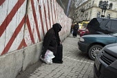 An elderly woman begs in a street in central Tbilisi, Georgia. Georgia - Philip Wolmuth - ,2010s,2011,age,ageing population,Asia,asian,asians,baggar,beg,beggar,beggars,BEGGER,begging,begs,Caucasus,cities,city,Decline,Eastern Europe,elderly,EQUALITY,eu,european,europeans,excluded,exclusion,