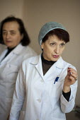 Nurses in the recently privatised Centre for Re-creational Plastic Surgery and Thermal Affects, in Tbilisi. - Philip Wolmuth - 08-04-2011