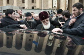Catholicos Patriarch Ilia II, head of the Eastern Orthodox Church in Georgia, attends a Memorial rally on the anniversary of the 1989 Soviet massacre of 20 hunger strikers outside the Parliament build... - Philip Wolmuth - 09-04-2011