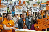 Multiple Sclerosis Society. The Hardest Hit. London march organised by the UK Disabled People's Council to protest at government cuts to disability benefits, allowances and services. - Philip Wolmuth - 11-05-2011