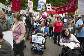 The Hardest Hit. London march organised by the UK Disabled People's Council to protest at government cuts to disability benefits, allowances and services. - Philip Wolmuth - 11-05-2011