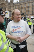 Taxation equals Slavery. The Taxpayers Alliance Rally against Debt, Westminster. - Philip Wolmuth - 14-05-2011