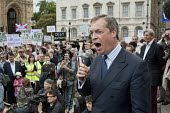 UKIP Leader Nigel Farage. The Taxpayers Alliance Rally against Debt, Westminster. - Philip Wolmuth - 14-05-2011