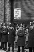 Police surround a picket line outside the Grunwick film processing plant in Neasden, West London, during a two-year strike called in protest at management refusal to recognise trade union representati... - Philip Wolmuth - 08-08-1977