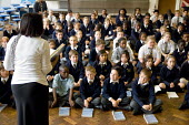 Years 5 & 6 choir practice, St Mary and St Michael Primary School, Stepney, Tower Hamlets, London - Philip Wolmuth - 30-09-2008