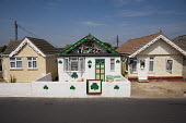 An Irish themed chalet with shamrocks (the shamrock is the national symbol of Ireland): well maintained bungalows on the Brooklands Estate in Jaywick Sands, close to Clacton-on-Sea. The estate's small... - Philip Wolmuth - 03-08-2011