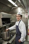 Apprentice cook at the Holiday Inn hotel, Bloomsbury, London. - Philip Wolmuth - 21-02-2011