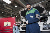 Apprentice vehicle mechanic at Camden Transport Services. - Philip Wolmuth - 01-03-2011