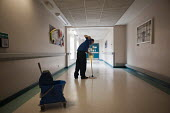 Mopping the floor. At Musgrave Park Hospital all cleaning and ancillary staff are directly employed by Belfast Health and Social Care Trust, following the expiry of a 15 year contract with Mediclean i... - Philip Wolmuth - 2010s,2011,ancillary workers,by hand,care,cleaner cleaners,cleaning,cleansing,direct labour,EARNINGS,employee,employees,employment,EQUALITY,hea health,health,HEALTH SERVICES,healthcare,Hospital,HOSPIT