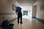 Mopping the floor. At Musgrave Park Hospital all cleaning and ancillary staff are directly employed by Belfast Health and Social Care Trust, following the expiry of a 15 year contract with Mediclean i... - Philip Wolmuth - 05-08-2011