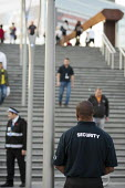 Security guards, Westfield Stratford City, the largest urban shopping centre in Europe. - Philip Wolmuth - 2010s,2011,BAME,BAMEs,black,BME,bmes,bought,buy,buyer,buyers,buying,casual,cities,city,CLJ,commodities,commodity,community policing,complex,consumer,consumers,cultural,customer,customers,developer,dev