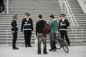 Security guards, Westfield Stratford City, the largest urban shopping centre in Europe. - Philip Wolmuth - 2010s,2011,animal,animals,BAME,BAMEs,bicycle,bicycles,BICYCLING,Bicyclist,Bicyclists,bike,bikes,BME,bmes,bought,buy,buyer,buyers,buying,casual,cities,city,CLJ,commodities,commodity,communicating,commu