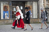 Judges arrive at Westminster Abbey for a service to mark the beginning of the legal year. - Philip Wolmuth - 03-10-2011