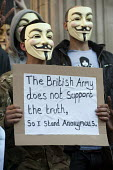 Soldier with a mask - The British Army does not support the truth so I stand Anonymous. Occupy the London Stock Exchange. Protesters gather at St.Pauls Cathedral on a global day of action against corp... - Philip Wolmuth - 15-10-2011