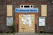 Cricklewood Library, one of six Brent libraries closed following a failed campaign by local residents.   � - Philip Wolmuth - ,2010s,2011,Austerity Cuts,Boarded Up,cities,city,closed,closing,closure,closures,council,Council Services,Council Services,disused,edu,educate,educating,education,educational,government,knowledge,lea