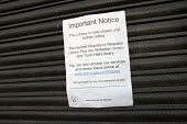 Notice of closure. Neasden Library, one of six Brent libraries closed following a failed campaign by local residents. - Philip Wolmuth - 16-10-2011