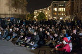 Night-time General Assembly. Occupy the London Stock Exchange camp outside St.Paul's Cathedral on the fourth day of global protest at corporate greed. - Philip Wolmuth - 18-10-2011