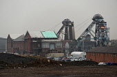 Hatfield Main colliery, Stainforth, is one of two remaining pits in South Yorkshire, with 400 employees. In May 2011 it was sold to Entero BV, a Dutch holding company. - Philip Wolmuth - ,2010s,2011,coal,Coal Industry,Coal Mine,coalfield,coalindustry,collieries,colliery,Dutch,EBF,Economic,Economy,landscape,LANDSCAPES,mine,mineral extraction,mines,mining,outdoors,outside,pit,pithead,PI